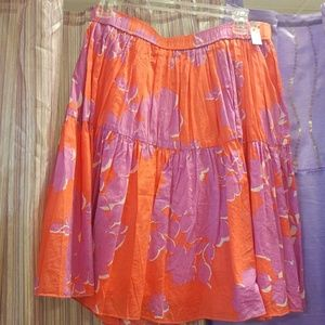 Old navy   Orange & magenta 100% cotton skirt